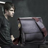 Wholesale S5Q Men s Vertical Shoulder Bags Leather Handbag Briefcase Detachable Strap AAACAR