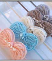 shabby flower trim - Free CPAM Shabby Chiffon butterfly flower trim head hair bow flower accessories colors in stock cm cm