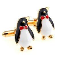 Wholesale Gifted penguin gentleman casual gathering necessary common for men and women cufflinks CZXKA6907CZXK