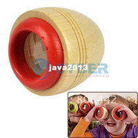 Wholesale Holiday Sale New Children s Cute Wooden Kaleidoscope Wood Toy