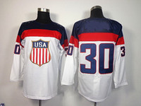 Cheap 2014 Sochi Olympic Team USA #30 Ryan Miller White American Premier Hockey Jerseys Ice Winter Man Jersey Stitched Authentic Drop Shipping