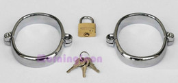 Wholesale Quality Bondage Gear Metal Hand Cuffs Gimp Wrist RestrainT BDSM Gear for Female Steel Bondage Cuffs Wholesaler B0311023