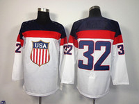 Cheap 2014 Sochi Olympic Team USA #32 Jonathan Quick White American Premier Hockey Jerseys Ice Winter Man Jersey Stitched Authentic Drop Shipping