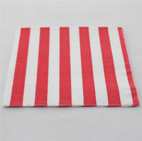 Wholesale 2000 Red Stripe Folding Paper Dinner Napkin PLY For Wedding Decoration