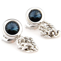 Wholesale Wets upscale chain diamond cufflinks cuff shirt cuff button to turn the French men s cufflinks CufflinksCZXK