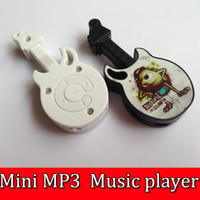 Wholesale 50pcs Mini Rechargeable Guitar style MP3 player W TF card Slot