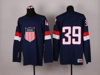 Cheap 2014 Sochi Winter Olympic Team USA #39 Ryan Miller Blue American Premier Hockey Jerseys Ice Winter Man Jersey Stitched Authentic