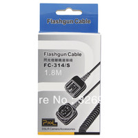 Wholesale 1 M ft Pixel FC S m TTL Flashgun Sync Extension Cord Cable for Olympus for Panasonic tracking number