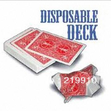 Бесплатная доставка 2 шт./лот одноразовые палубы -- карты трюк магия фото