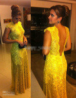 Cheap DH40 Custom Made Modest Cap Sleeves Backless Lace Long Formal Evening Dress Vestidos Formales Prom Party Gowns 2014