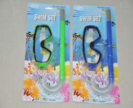 Розничный пакет нового прибытия ПВХ плавательный Подводное Anti-Fog очки маска Snorkel Set 144pcs / серия MYY8669