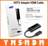 Wholesale MHL Micro USB pin to HDMI HDTV Vidio Cable Converter Adapter For Samsung Galaxy S3 I9300 Note II N7100 S4 i9500