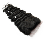 Wholesale NEW Wigiss hair products Virgin Brazilian Hair Lace Top Closure quot quot deep wave curly quot quot natural Color curly hair H6010A