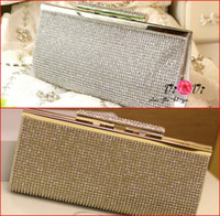 Wholesale Gold Silver Bridal Hand Bags Wedding Accessories Evening Prom Party Hand Bag Luxury Beaded New Fashion Purse High Quality
