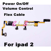 Wholesale Replacement Switch Power On Off Volume Control Flex Ribbon Button Cable Part for iPad Repair Parts