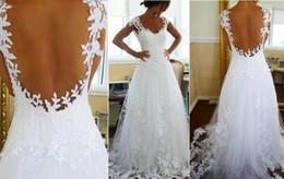 2014 свадебное платье Ever-line V шеи Sheer панели задней суд поезд свадебные платья от Производители подкладке панель