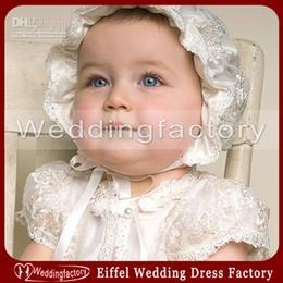 Wholesale Custom made Spring Lovely Christening Baby s Hat Cute baptism Children s Bonnet