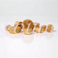 bamboo body jewelry - Fashion bamboo wood ear plugs tunnel ear gauge piercing Body Jewelry size mm