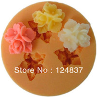 Cheap 16mm Mini 9-flowers bread fondant mold cheap cake decorating supplies soap Silicone moulds cupcake 100% Food Grade