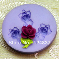 Wholesale 3D Mini Rose Bouquet Silicone soap mold wedding decoration flower cake molds Muffin case Jelly Ice Mould cupcake