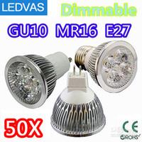 4w gu10 led - LEDVAS High power CREE W x1W Dimmable GU10 MR16 E27 E14 GU5 Led Light Lamp Spotlight led bulb By DHL