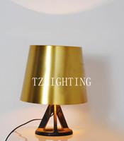 Wholesale Tom Dixon Base Table Lamp Modern Simple Metal Desk Lamp Golden Lampshade Living Room Dining Room Bedroom Table Lamp