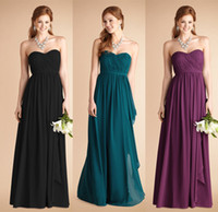 Wholesale 2014 New Best Selling Bridesmaid Dresses With Sweetheart Ruched Sash Backless A Line Floor Length Chiffon Colorful Customed Prom Party Gowns