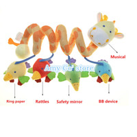 Cloth 0-12 Months Christmas 1pc lot multifunction baby rattles music deer around the bed Baby Bed or Cars Hanging Toys Educational toys