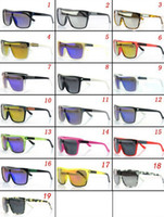 Resin Lenses Sports Wayfarer 20 Pcs lot + New Arrivals AAA Quality Fashion Sunglasses Outdoor Sport FLYNN SPY Glasses Reflective Cycling Driving Sunglasses
