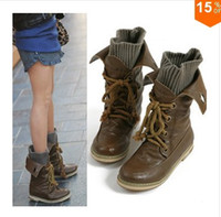 Wholesale Autumn woman cool uniform fashion boots size flat Motorcycle boots shoes woman snow boots