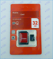 Wholesale Hot sell GB Micro SD Card GB Flash SD SDHC Cards Free Adapter with Red Retail Package