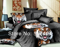 Cheap Discount ! with the lower price 3d oil painting tiger bedspreads,3d oil tiger painting bed linen ,queen size