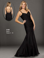 Cheap 2014 Cheap Sexy Black Mermaid Evening Dresses Spaghetti Lace Backless Sweep Train Wow Prom Dress Formal Gowns Dress for Pageant Custom Pleat