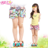 Wholesale children s clothing female child trousers denim shorts summer new arrival capris rubber band all match shorts
