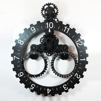 Cheap Clock trigonometric big gear clock calendar ring gear clock fashion vintage machinery