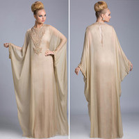 Cheap Arabic Evening Dress Pant Suit Gowns Sexy Long Sleeve Champagne Mother of The Bride Groom Plus Size Dubai Abaya Cheap Dresses 2014 Formal