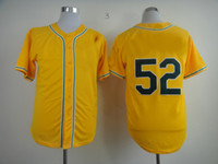 Wholesale New Arrival Baseball Jerseys Athletics Cespedes Jerseys Yellow Mens Baseball Wears Breathable Sportswear Cool Athletic Jerseys On Sale