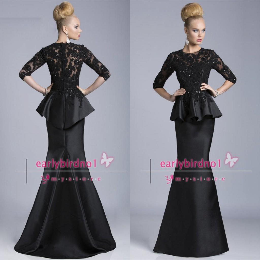 Mother of the bride lace dresses with sleeves