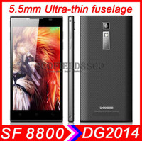 Wholesale Doogee Colorful DG2014 mm thin fuselage quot IPS HD Display MTK6582 Quad core phone G G MP android cell phone samrtphone GPS