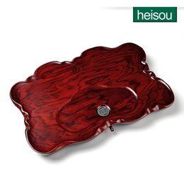 Wholesale Heisou gongfu tea tray solid wood tea tray tea set teaberries drainage pipe teaberries kd114