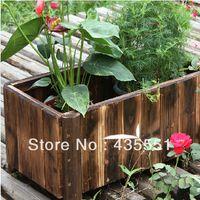 Wholesale Carbonized Wood Garden Raised Bed Rectangle