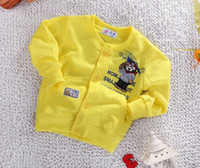 Cheap 2014 hot sales baby spring autumn cute bear clothes child bow cardigan boy coat girl cotton cardigan kids 100% cotton Sweater 8pcs lot