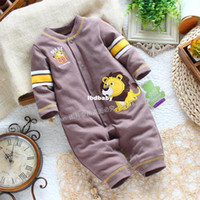 Cheap Wholesale - Cool style baby boy clothes bodysuit romper clothes and climb single tier romper jumpsuit coffee male child