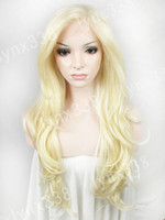 Blonde blonde lace front wigs - New Brand Fashion Women s Lace Wig Long Wavy quot Blonde Synthetic Wig Lace Front Wig Party Wig Heat Resistant Wig N12