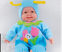 Wholesale cm simulation baby American girl REBORN NEWBORN inflatable latex baby doll can laugh dolls for g