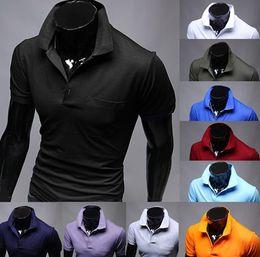 Wholesale New hot sale Summer Men s Fashion Polo T Shirts Cotton T shirts Casual Slim Fit Stylish Short Sleeve Polo Shirt Asia M XXL