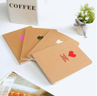 Wholesale korean Stationery kraft paper Notebook lovely simple Paper Notepad