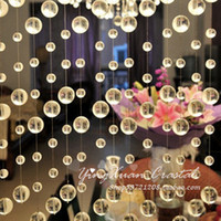 door beads - Transparent crystal round pearl crystal bead door curtain Screens amp Room Dividers