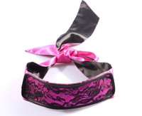 Wrist & Ankle Cuffs adult party toy - 2 in Lace and Silk Blindfold Bedroom game mask Adult party toy Lock and Blind Her to Feel Bounded Fun Adult Products