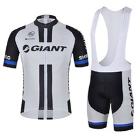 Wholesale New GIANT Cycling Jersey and Cycling Bib Shorts Cycling Team Kit Summer Cycling Clothing Set Size XS XL All in Stock